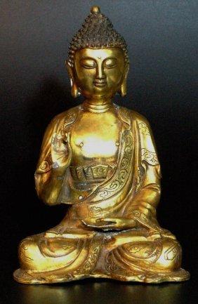 9: Gilded Bronze Buddha Statue
