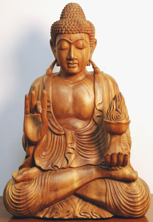 10: Highly Carved Wood Buddha
