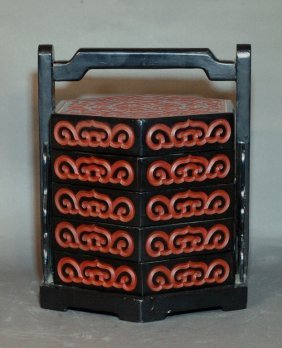 13: Lacquered Five-Tier Food Container