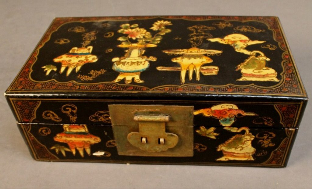 15: Chinese Finely Painted Jewelry Box