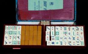 17: Mahjong Set made of Ivory & Bamboo