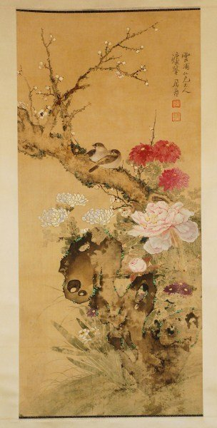 19: Chinese Painting --Bird and Flowers
