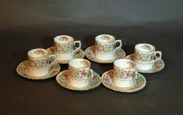 22: Royal Crown Derby - 12 pc. Demitasse Set