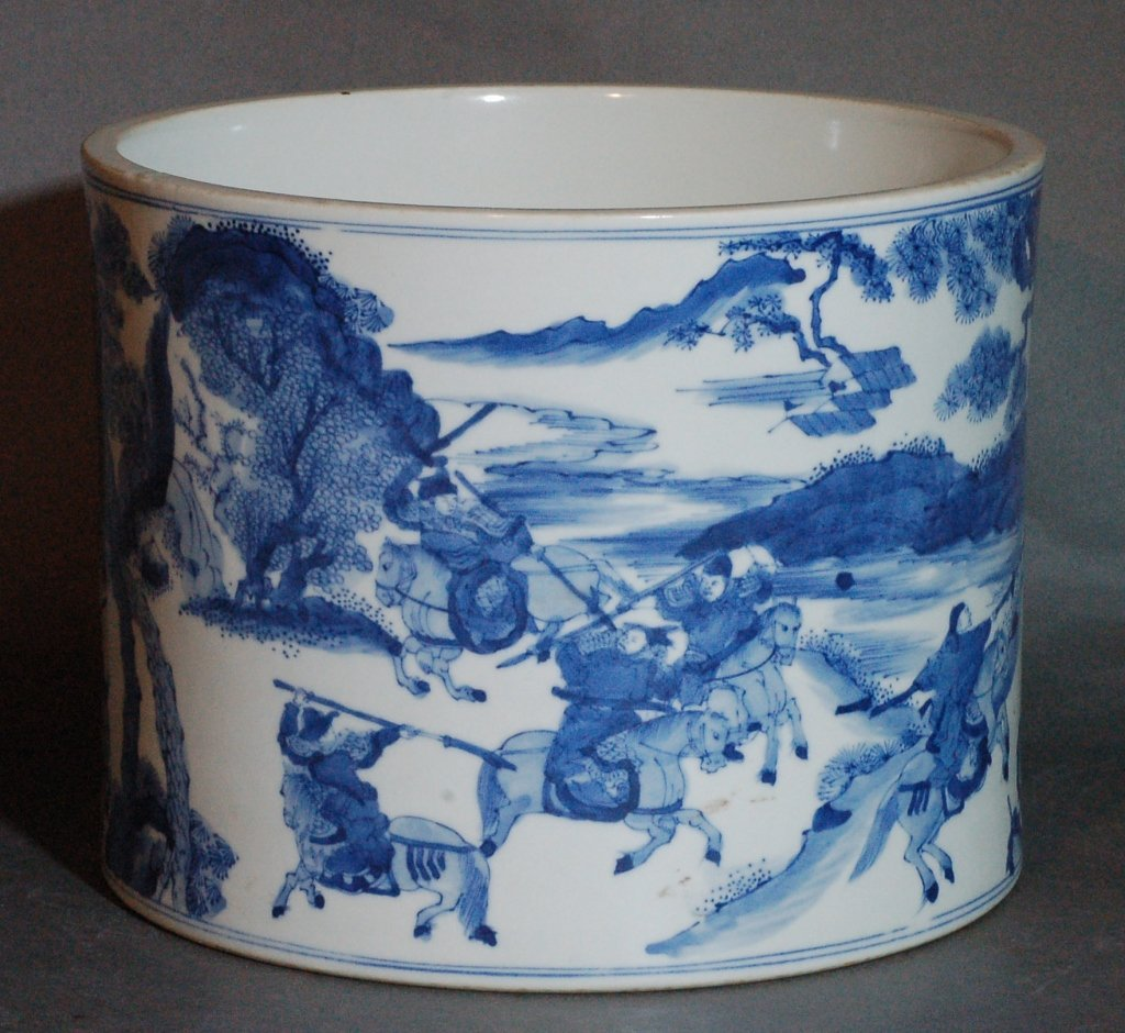 37: Chinese Blue and White Brushpot