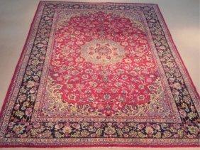 A Hand Woven Tabriz Rug