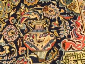 A Hand Woven Meshad Rug