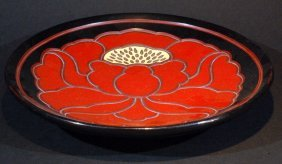Lacquered Plate - Flower
