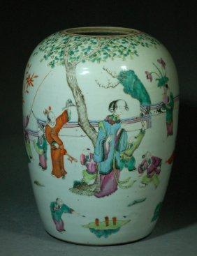 Chinese Qing Porcelain Ginger Jar
