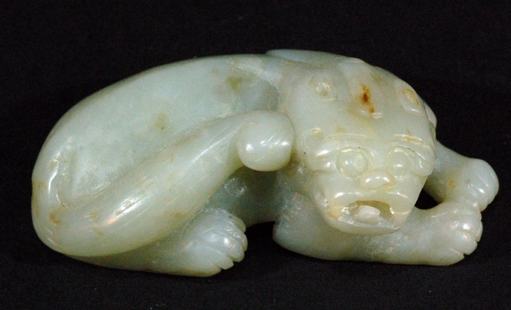 Carved Chinese Ming Jade Badger Pendant