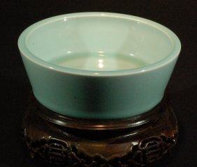 White Celadon Glazed Brushwasher