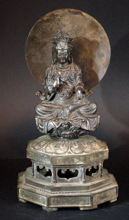 Bronze Guanyin Statue with Base