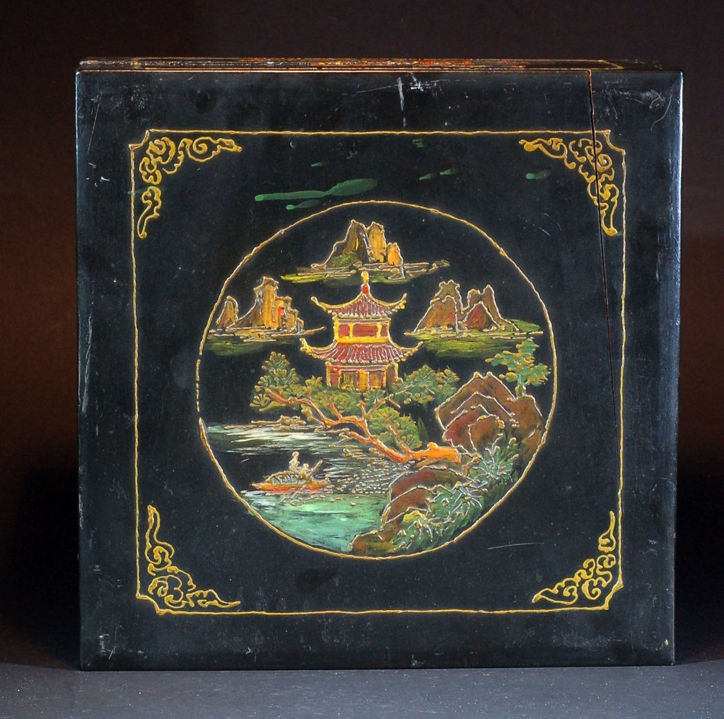 Old Chinese Lacquer Dresser Box