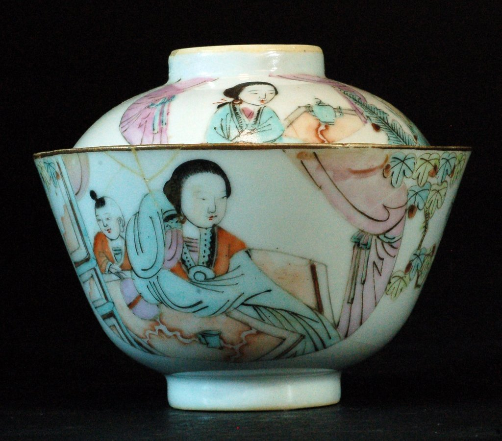 Chinese Famille Rose Lidded Bowl