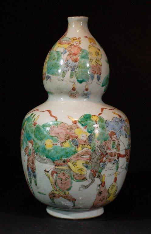 Famille Verte Gourd-shaped Vase