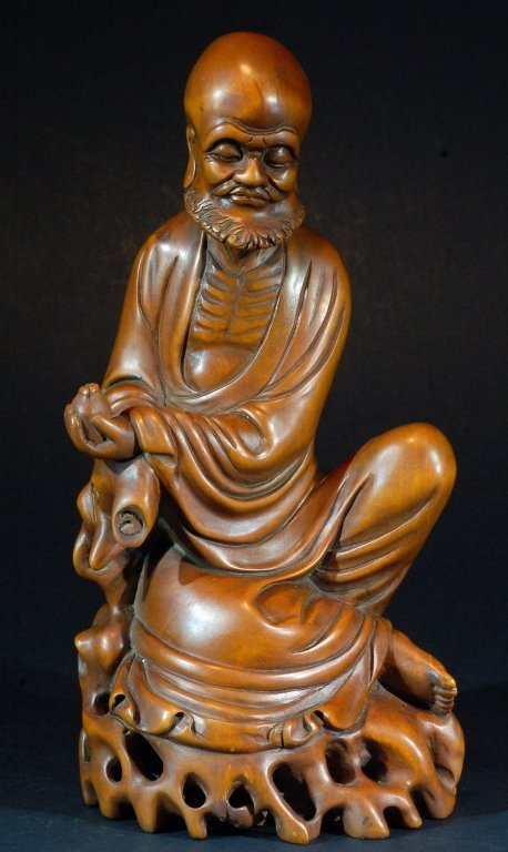 Highly Carved Huangyang Wood Statue