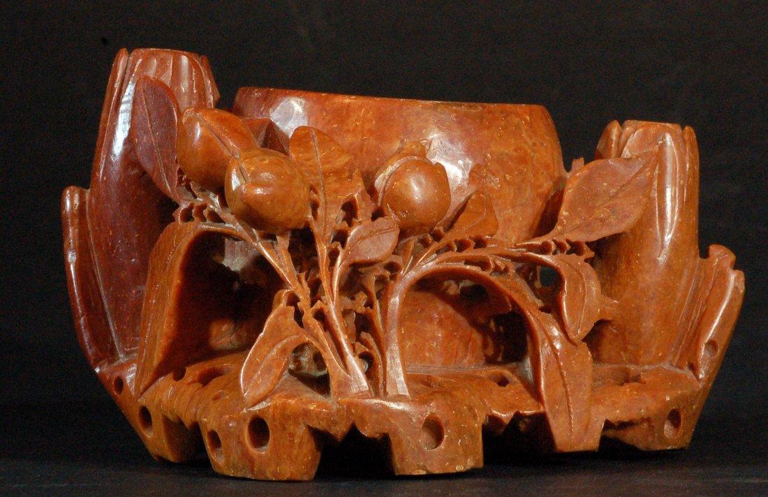 Carved Shoushan Stone Brush Washer