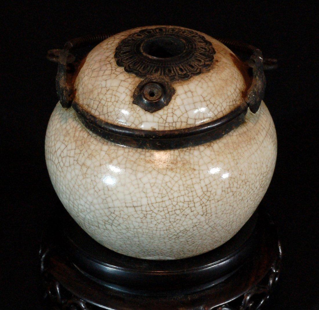 Crackle Glazed Lidded Small Jar