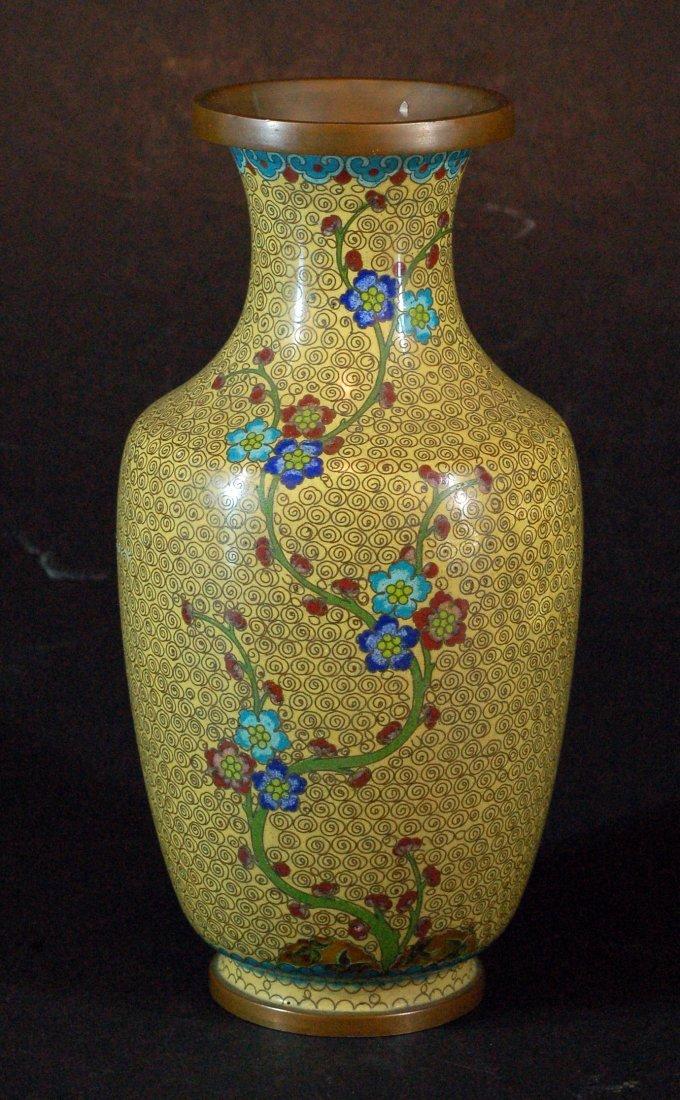 Cloisonne Vase w/ Flowers