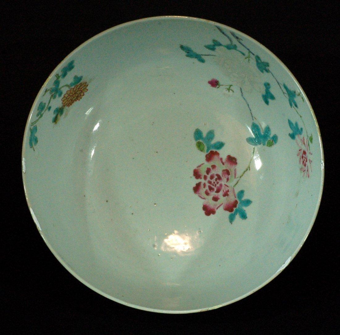 Large Chinese Famille Rose Bowl
