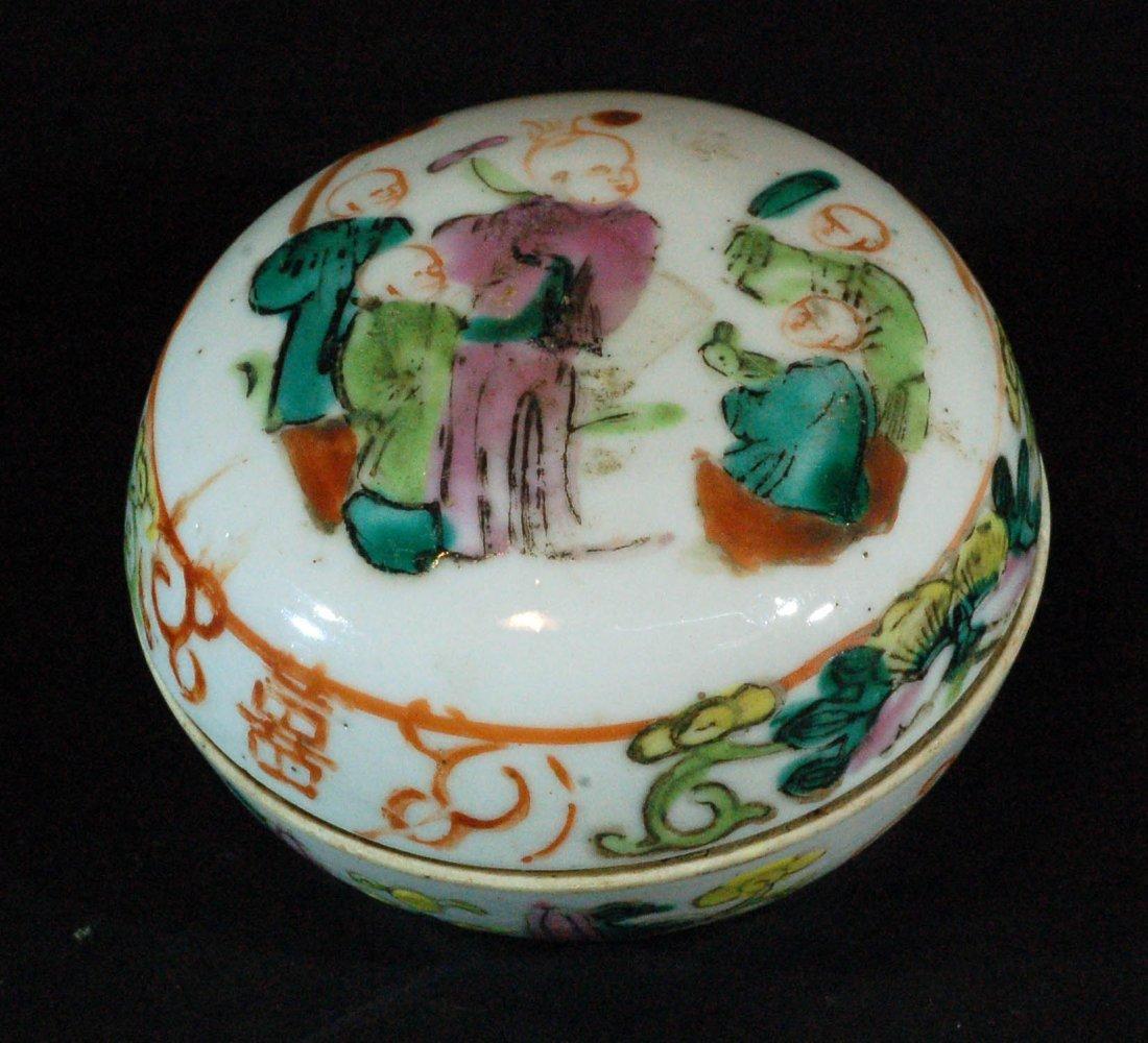 Chinese Famille Rose Powder Box
