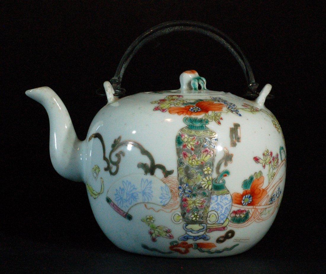 Chinese Famille Rose Teapot - Tongzhi Mark