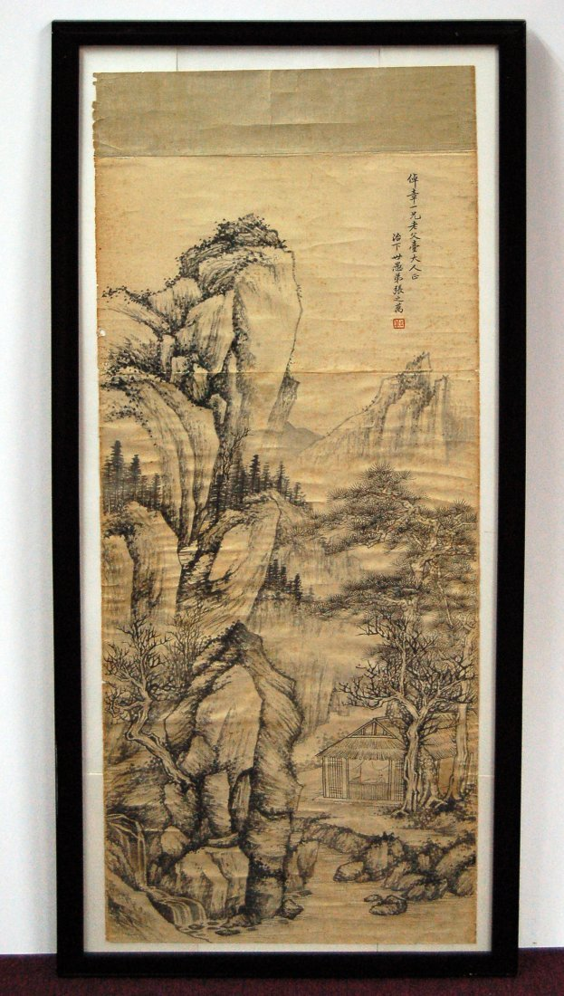 Chinese Scroll Painting - Landscape, Zhang Zhiwan
