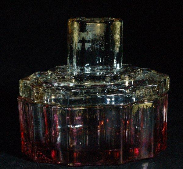 Perfume Bottle Ruby Flashed 1920's