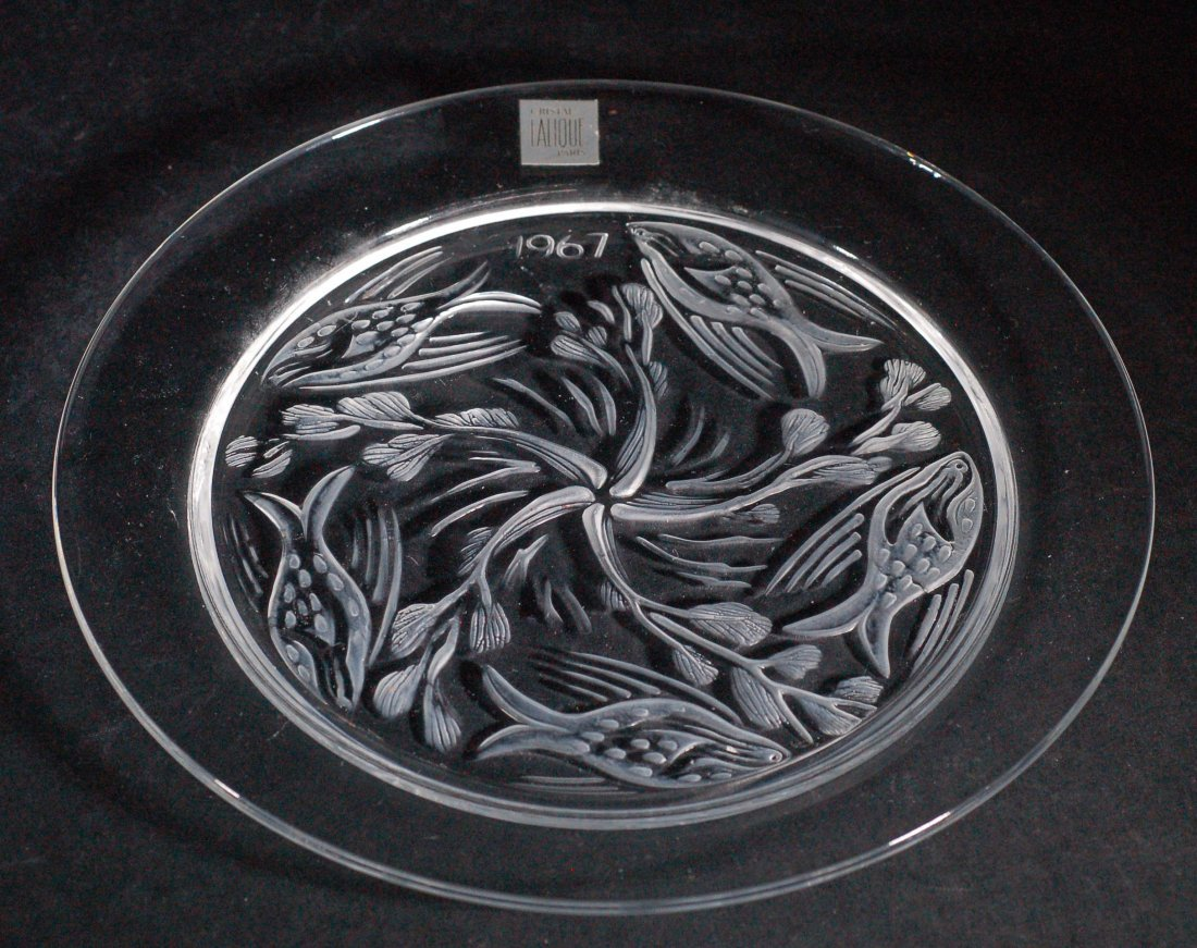 Lalique Crystal Plate - 1967