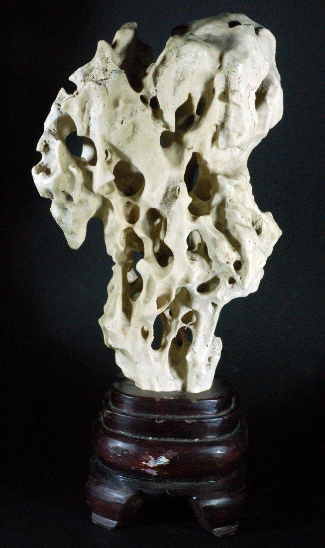 White Ornamental Stone with Base