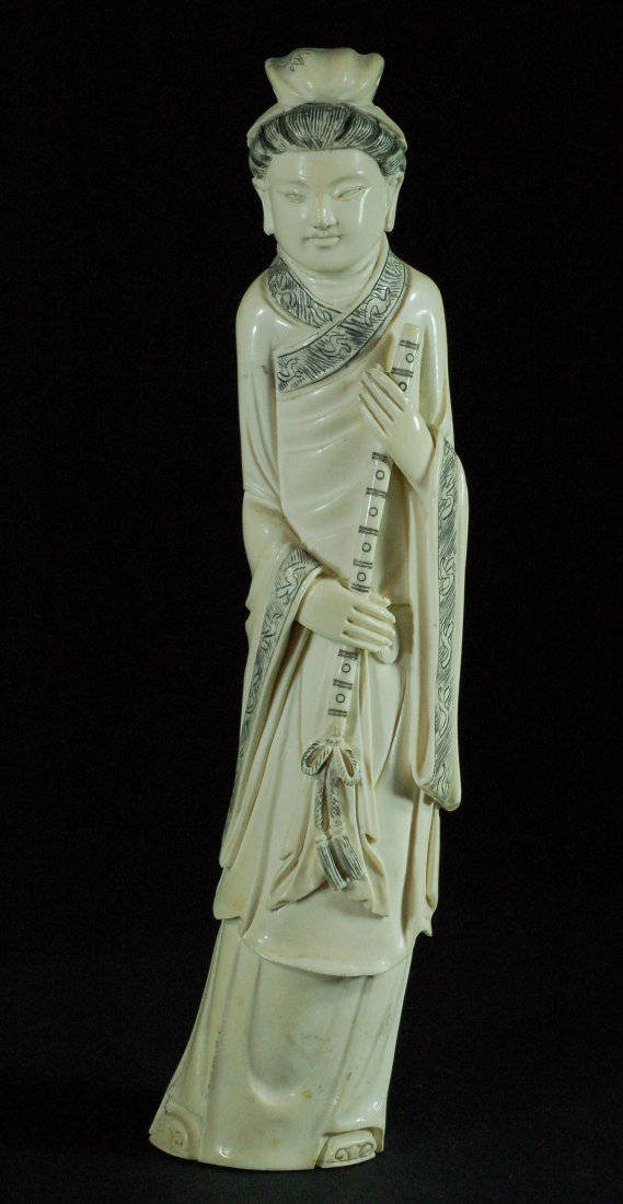 Carved Ivory Statue - Young Scholar