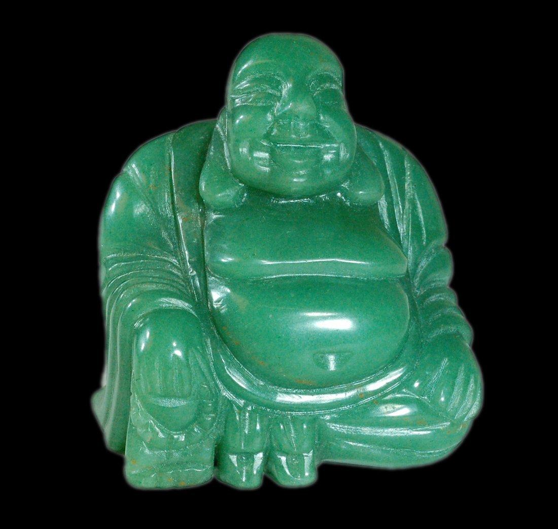 Carved Green Jade Mi-Le