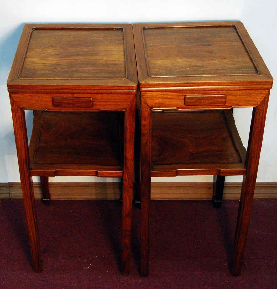 Pair of Chinese Huanghuali Stands