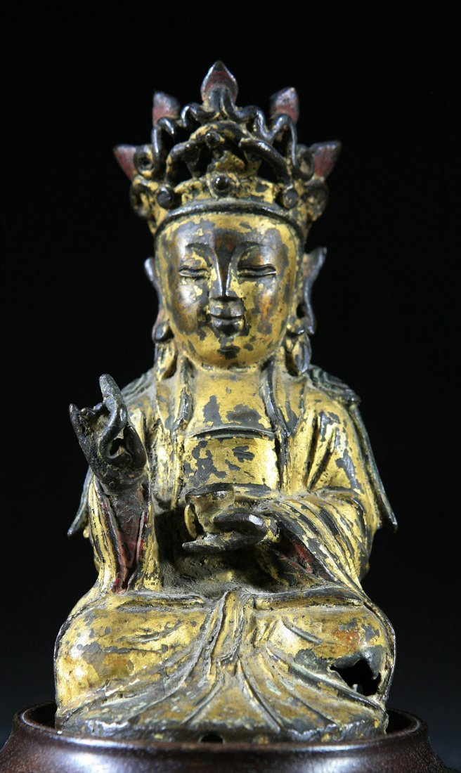 Ming Dynasty Gold Gilt Bronze Buddha