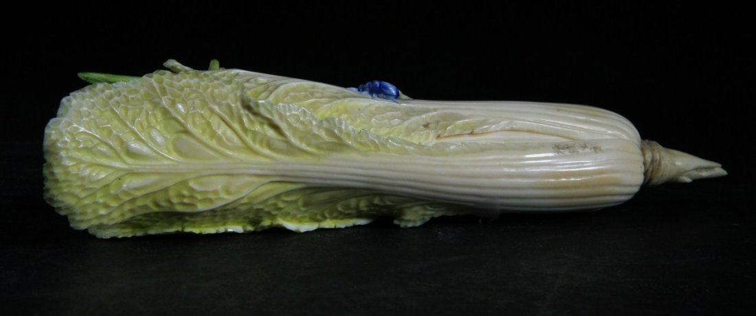 Highly Detail Carved Old Ivory Cabbage
