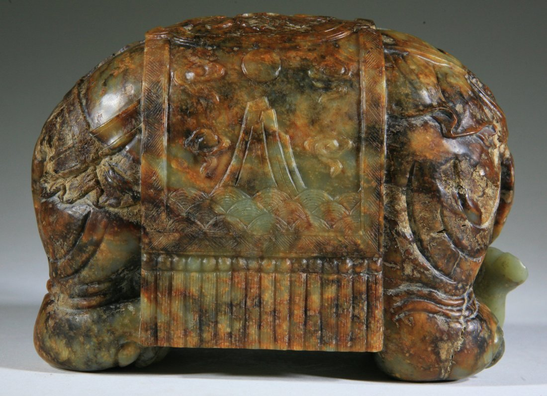 Tang Dynasty Chinese Antique Jade Elephant