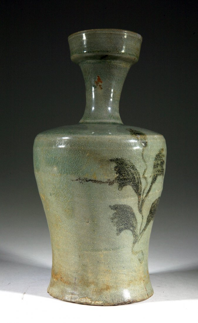 Song Dynasty Chinese Celadon Glazed Vase
