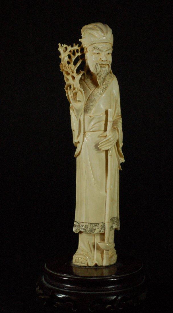 Highly Detailed &Carved Bone Figure