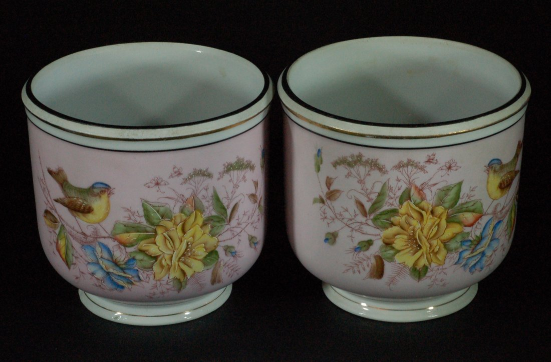Pair of Famille Rose Planters - 19th C.