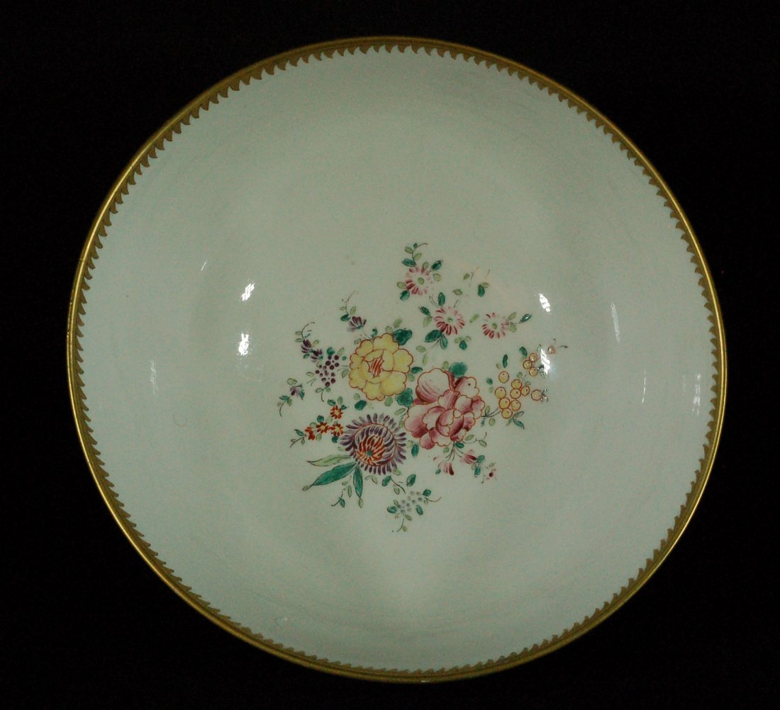 Large Chinese Export Famille Rose Bowl