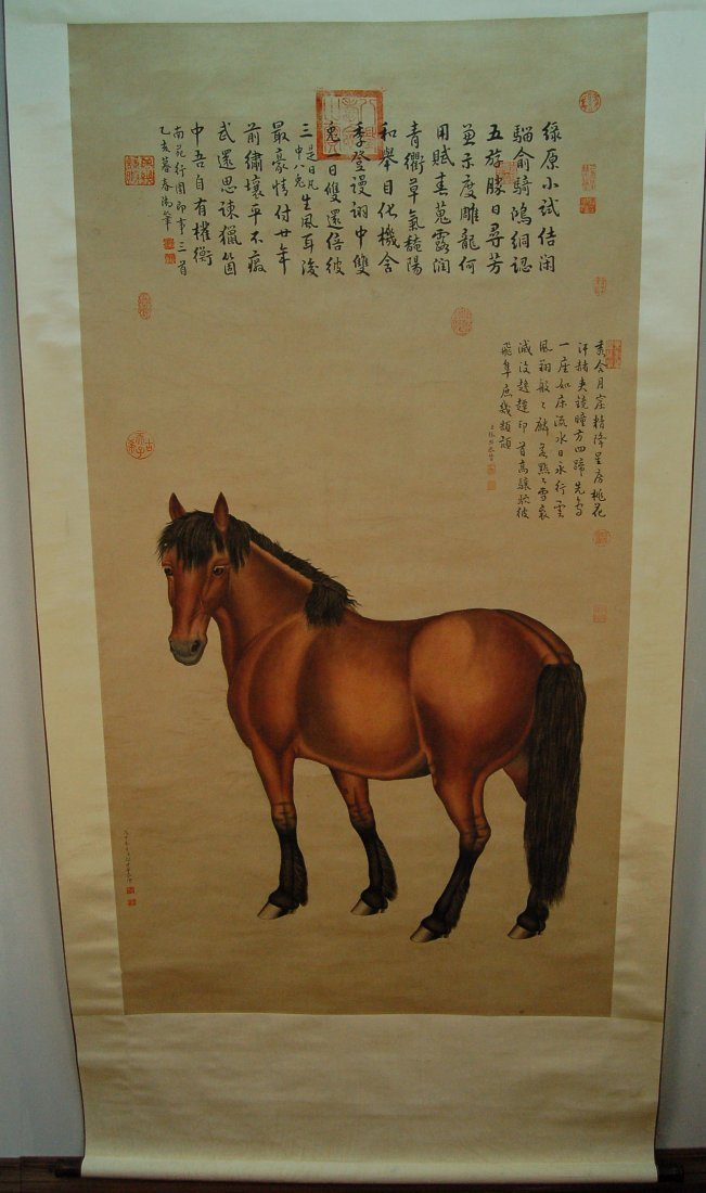 Chinese Scroll Painting - Horse