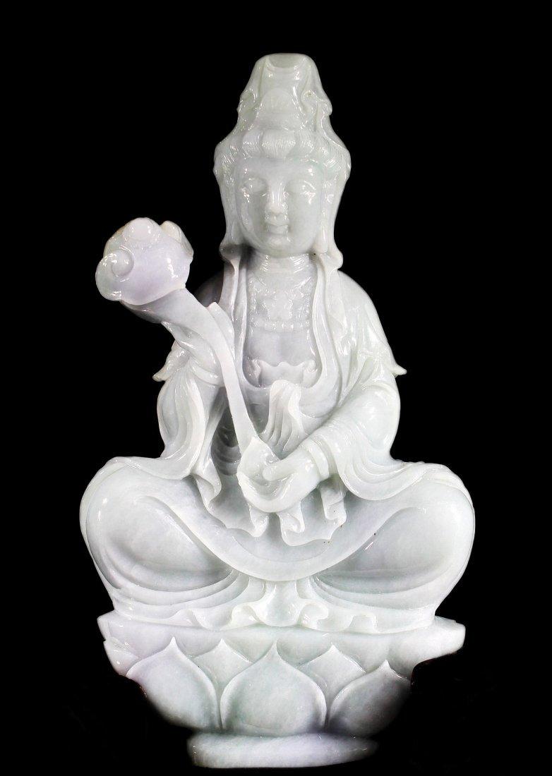 Large Jadeite Guanyin Statue