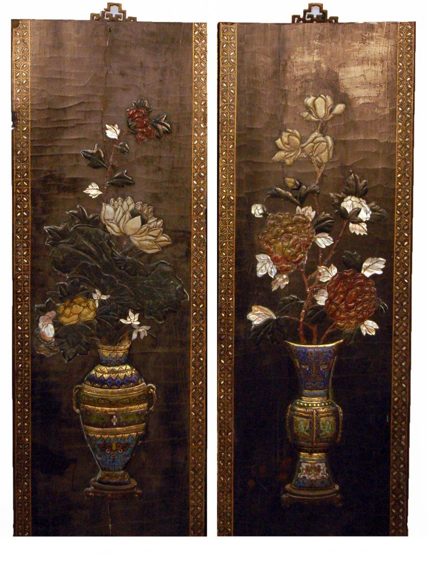Highly Decorated Wood Hangings - Qing