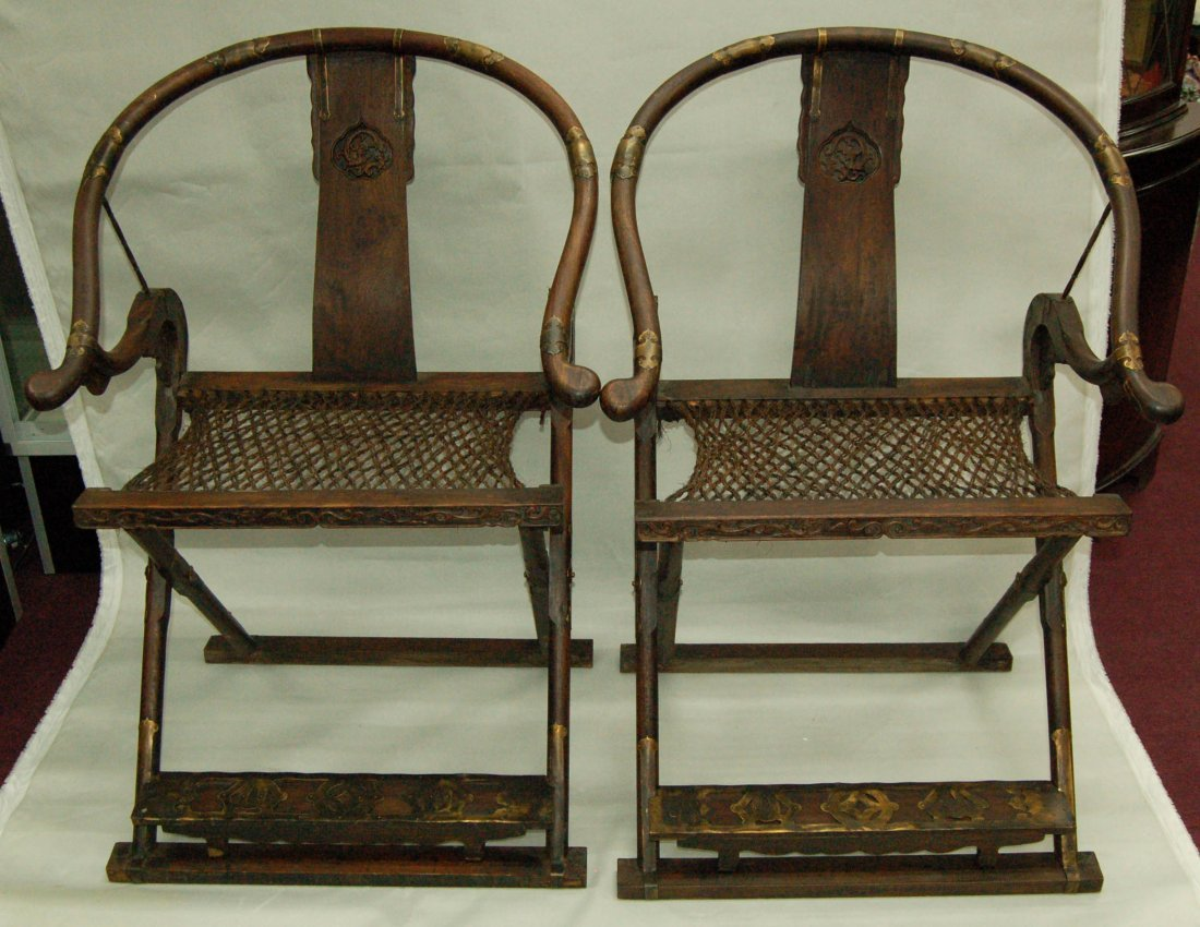 of Chinese Folding Hunters Chairs