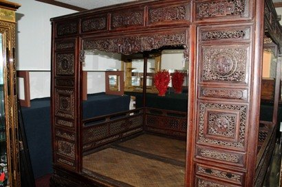 Old Chinese Hardwood Opium Bed