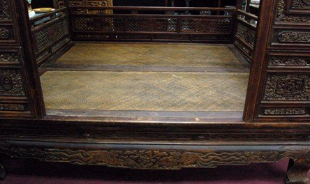 Old Chinese Hardwood Opium Bed - 3