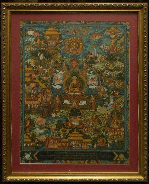 Framed Tibetan Thanka