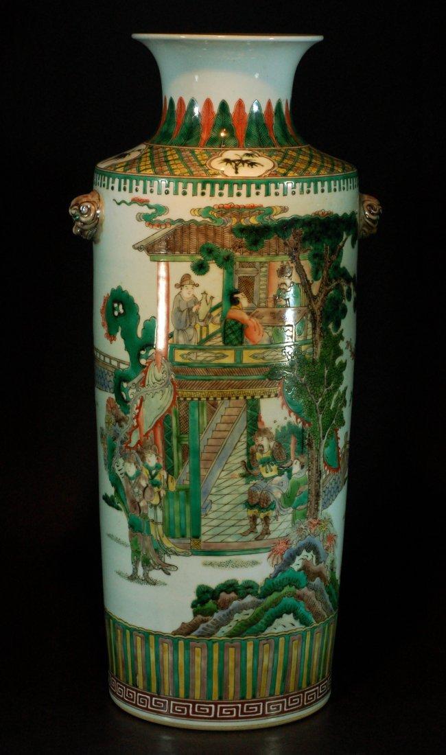 Large Chinese Kangxi Wucai Vase