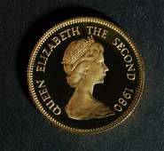 Hong Kong 1980 Gold 1000