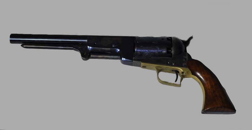 An Italian Pedersoli Black Powder Revolver