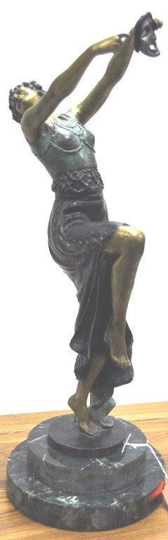 A Bronze Figure on Marble Plinth